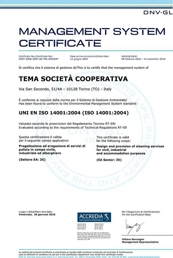 UNI EN ISO 14001-2004